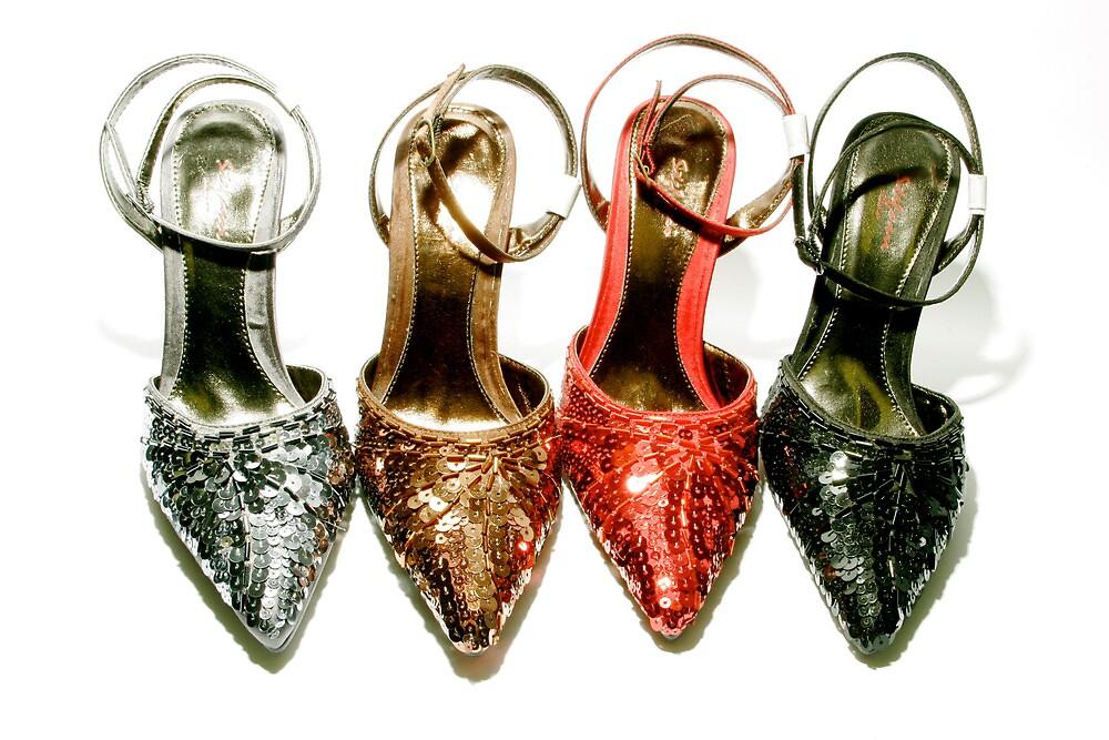 Glittering shoes by Koon