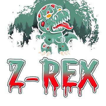 Z-Rex Zombie T-Rex Dinosaur Halloween by frittata