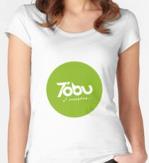 Tobu Everyday - Green Women's Fitted Scoop T-Shirt