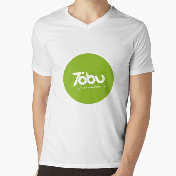 Tobu Everyday - Green V-Neck T-Shirt