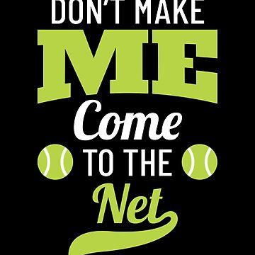 Tennis Fun Gift Tennis Ball Net Tennis Gifts by modernmerch