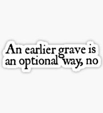 Neon Gravestones lyrics Sticker