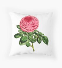 Rose Madame George Schwartz Throw Pillow