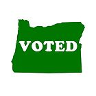 Green I Voted Oregon State Voting by alienfolklore