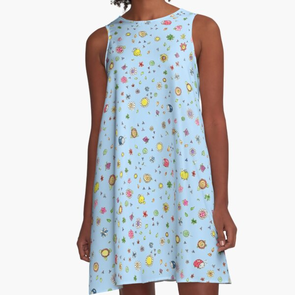 Bugs and Blooms A-Line Dress