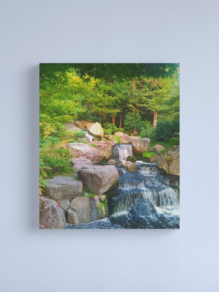 Alternate view of Japanese Waterfall Canvas Print