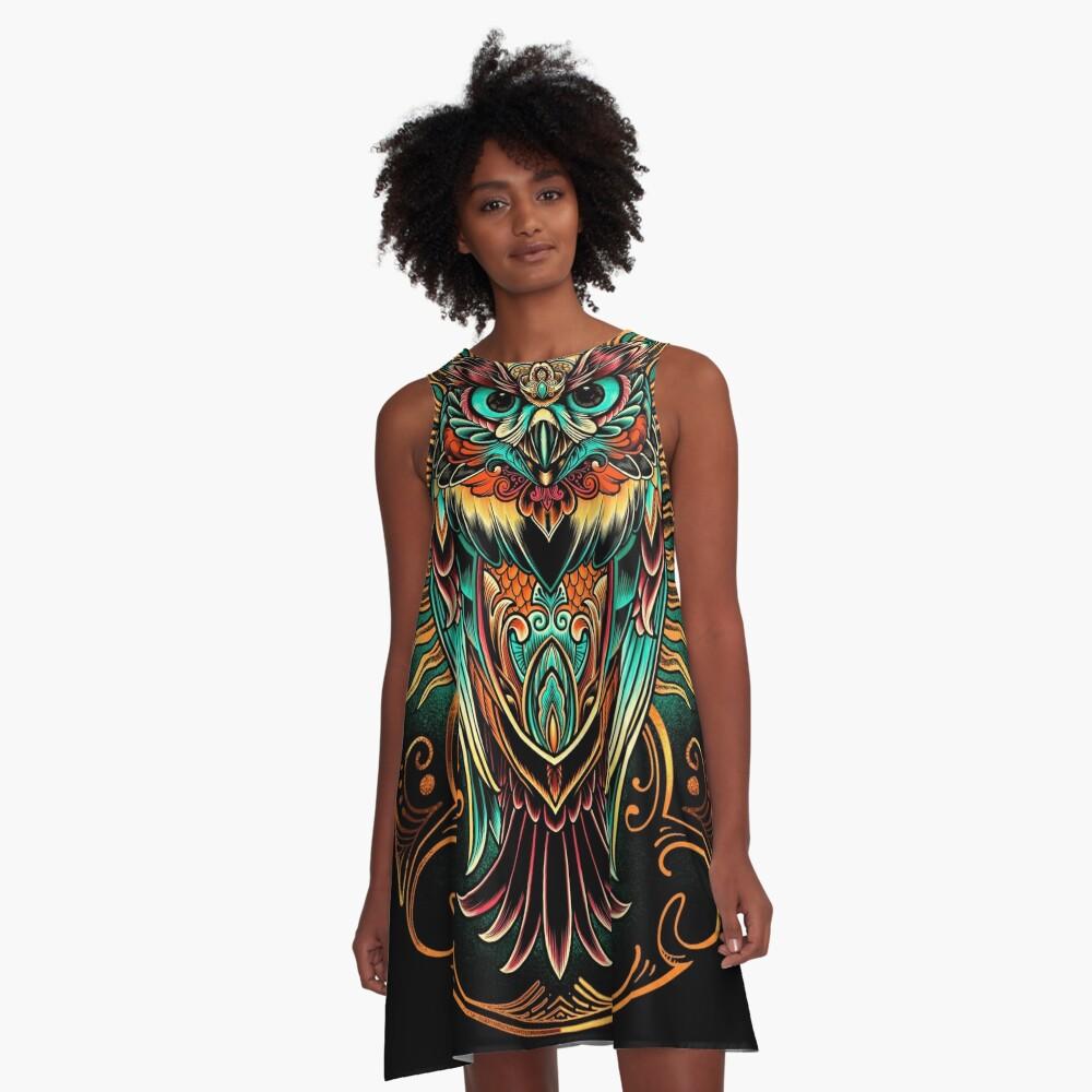Owl - The Watcher A-Line Dress