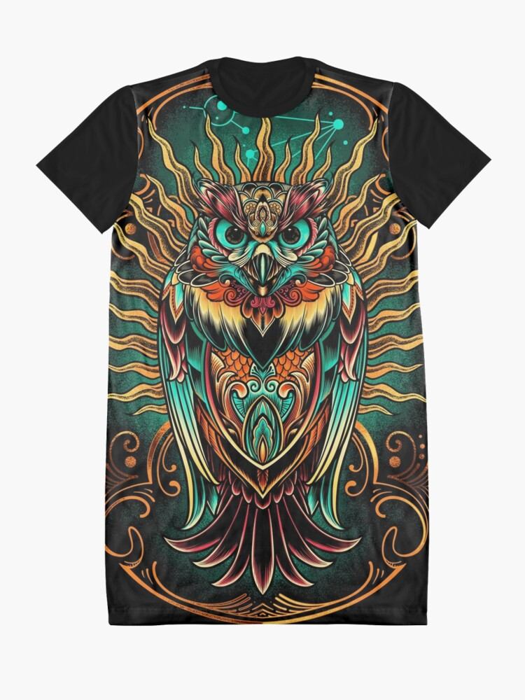 Alternate view of Owl - The Watcher Graphic T-Shirt Dress