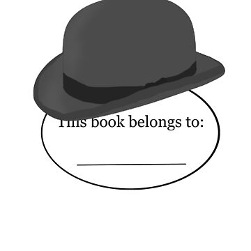 Bowler Hats Bookplate by masqueblanc