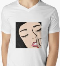 Girl design Men's V-Neck T-Shirt
