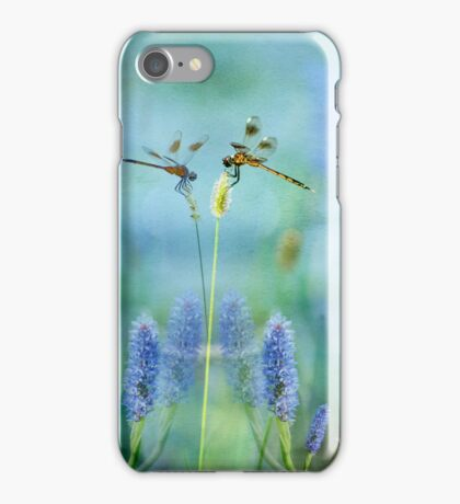 Dragonflies and Water Hyacinths  iPhone Case/Skin