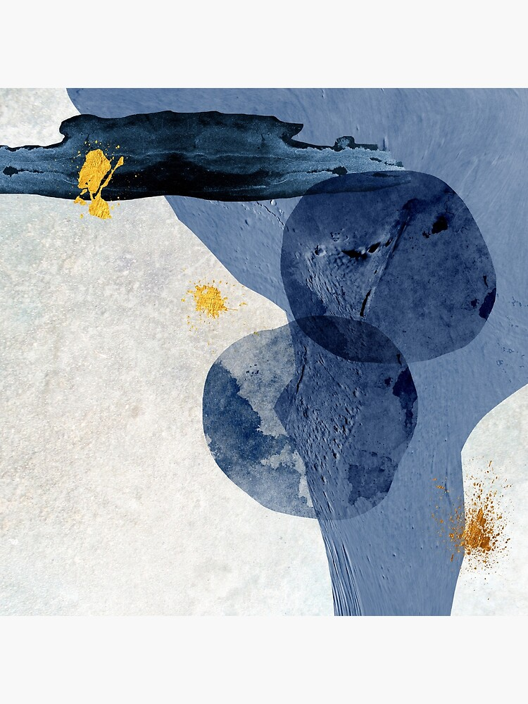 Abstract Navy and Gold by UrbanEpiphany