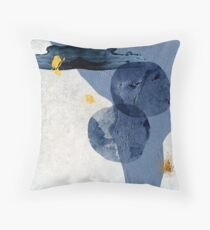 Abstract Navy and Gold Floor Pillow