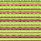Multi colored Holiday Stripe Pattern Green Red White by TheKitch