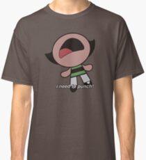 "Powerpuff Girls Buttercup - ""i need to punch!"" scream Classic T-Shirt"