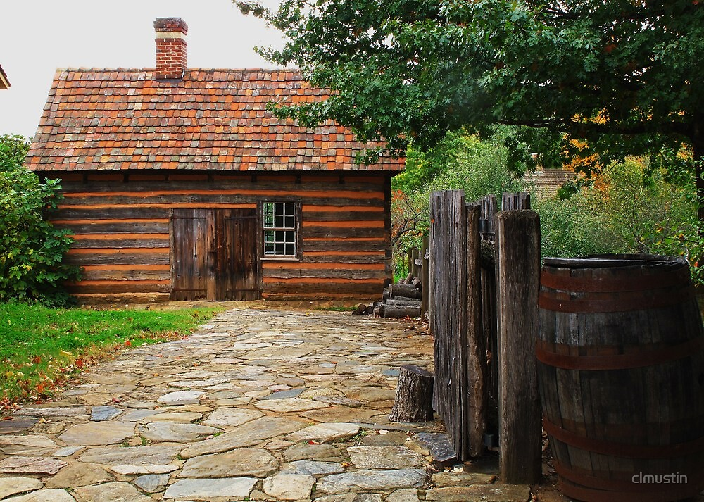 Old Log Cabin by clmustin
