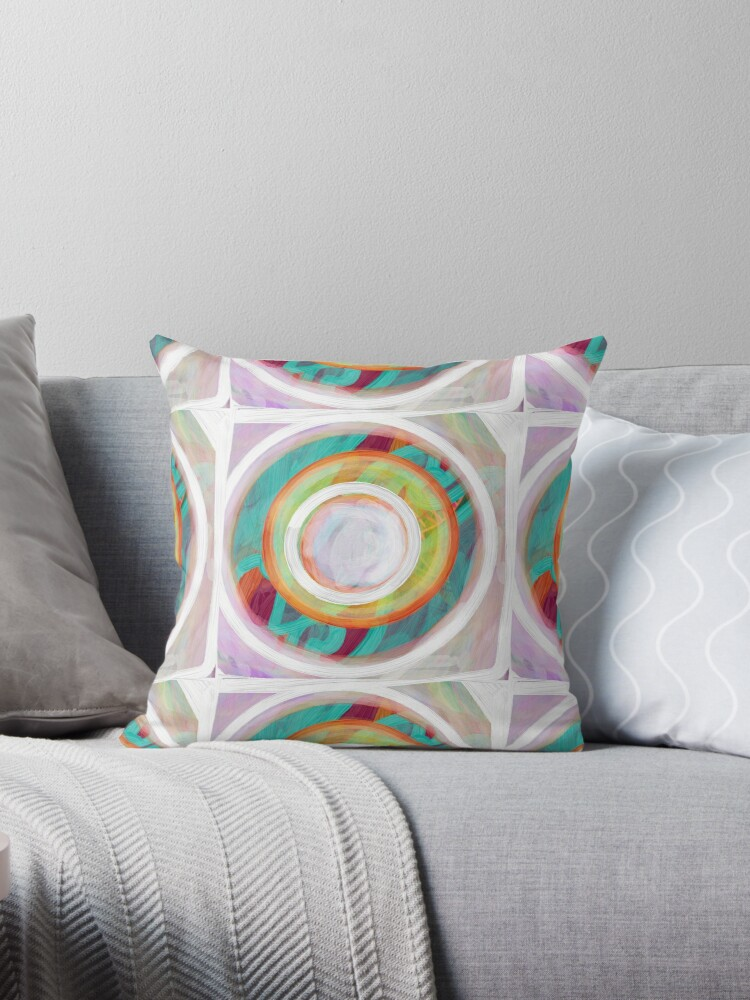 Circle in turquoise and puece by Sarah Butcher