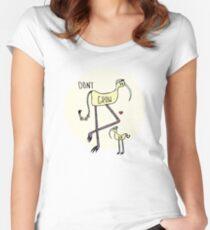 Wachsen Sie nicht Abbildung auf Tailliertes Rundhals-Shirt