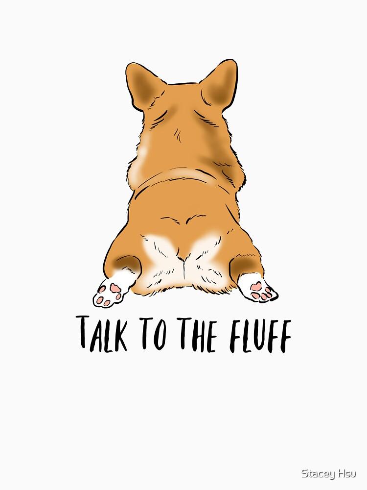 Funny Corgi Butt, Corgi Lover Humor, Corgi Fluffy Butts, Talk to the Fluff, Corgi Joke, Corgi Mom by nitesky13