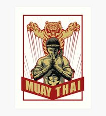 Muay thai tiger Art Print