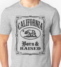 California Flag Bear - Born and Raised T-Shirt