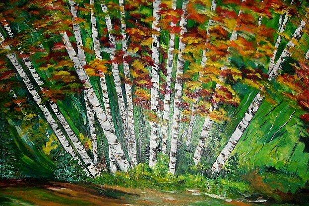 Aspen Grove in the Fall by terrilee