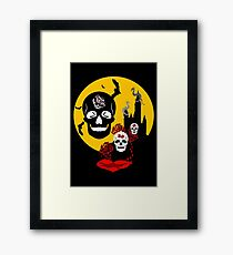 red moon skull Framed Print