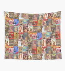 Vintage Lesbian Pulp Fiction Collage Version 2 Wall Tapestry