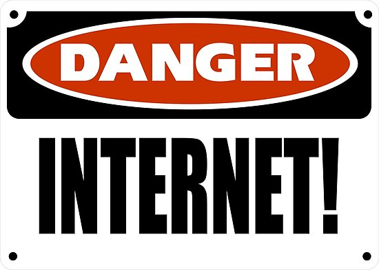 danger internet posters by andyray redbubble. Black Bedroom Furniture Sets. Home Design Ideas