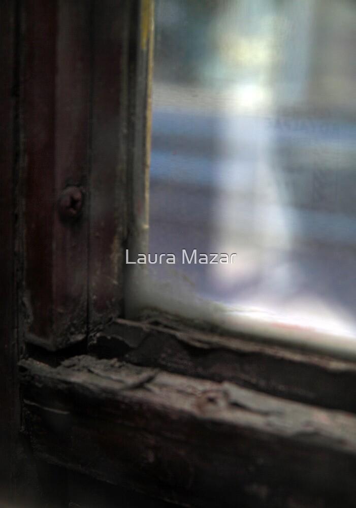 Tram Window, Melbourne by Laura Mazar