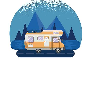 RV There Yet? -  RV Camper Camping Moon by ZippyThread
