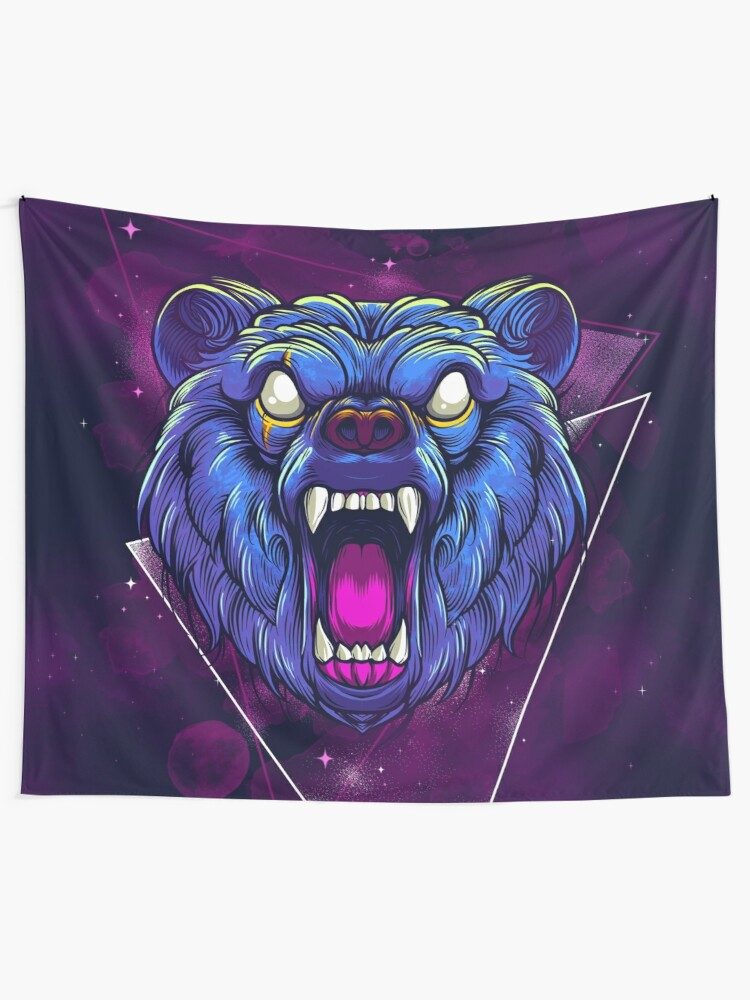 Alternate view of Frenzy Bear Tapestry