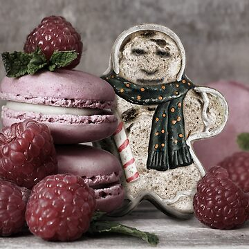 Moldy Gingerbread Man with Raspberry Macrons by GolemAura