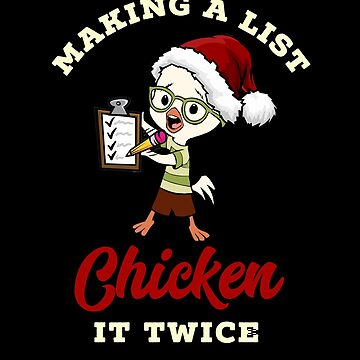 Funny Christmas Chicken Lover Gift Idea by CheerfulDesigns