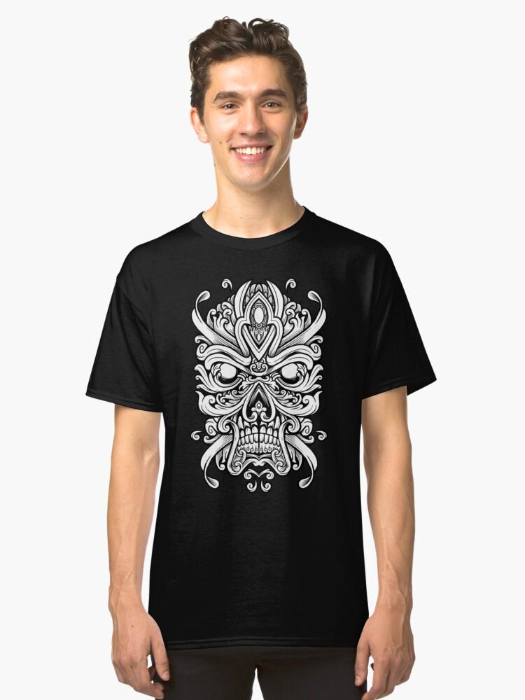 Alternate view of Ornate Skully Mask Classic T-Shirt