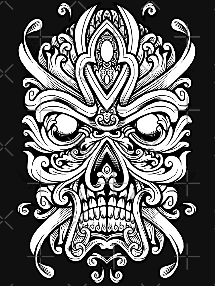 Ornate Skully Mask by angoes25