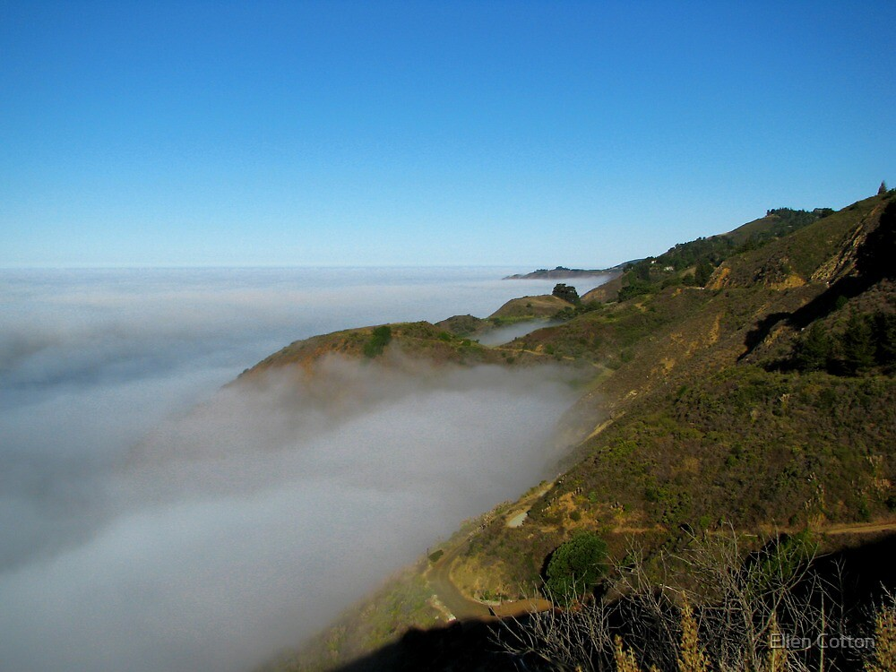 Fog Over The Big Sur Coast by Ellen Cotton