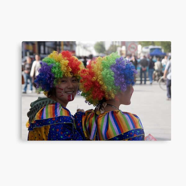 Clowns in the town Metal Print