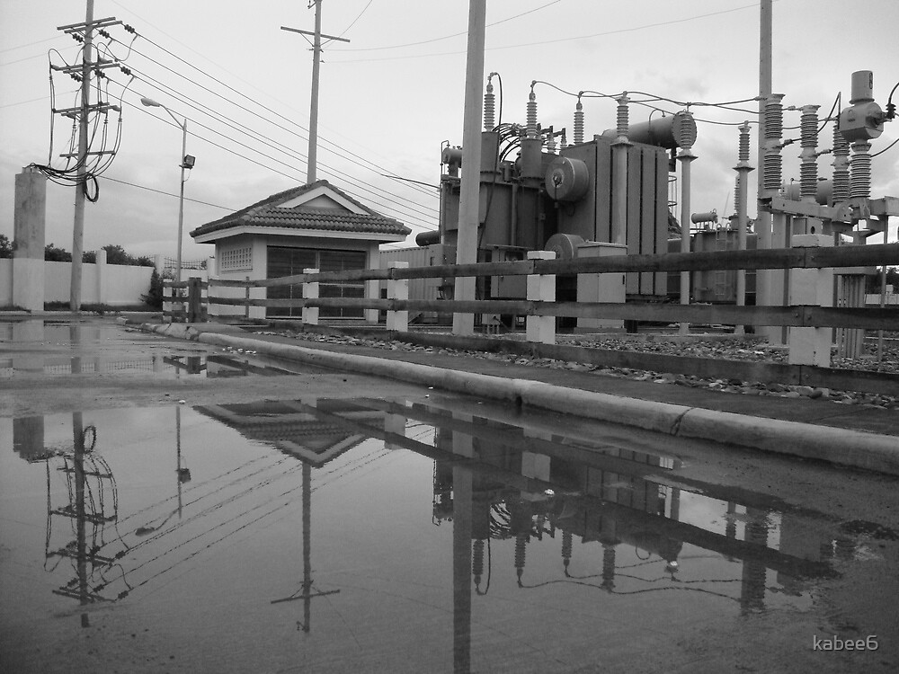 reflections at the substation by kabee6