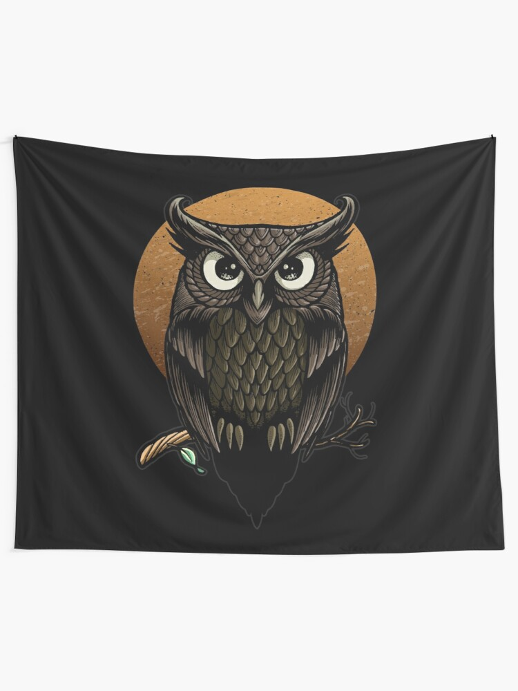 Alternate view of F'owl Moon Tapestry