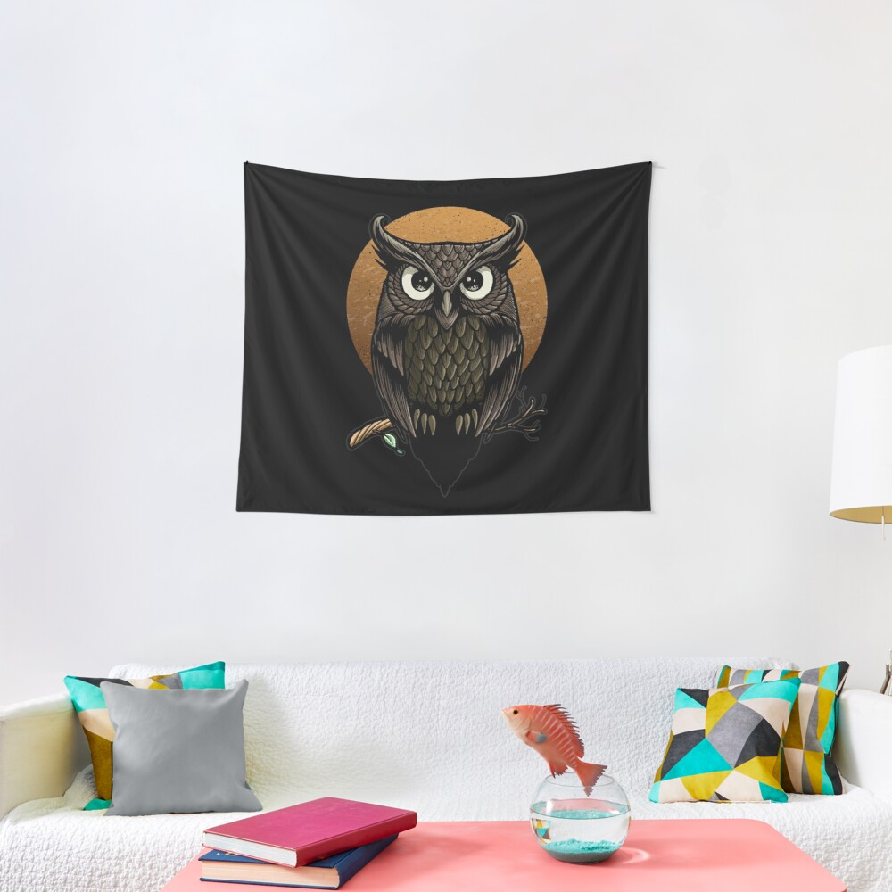 F'owl Moon Tapestry