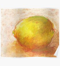 Study of a lemon, pastels on paper Poster