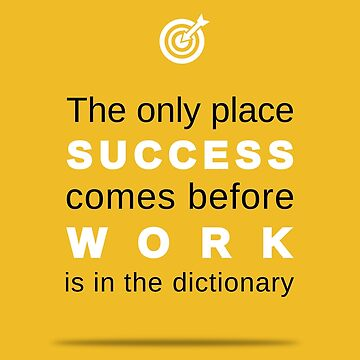 work success quote by aduran