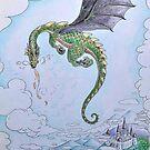 Dragon and Castle by Lauren E Tarrant