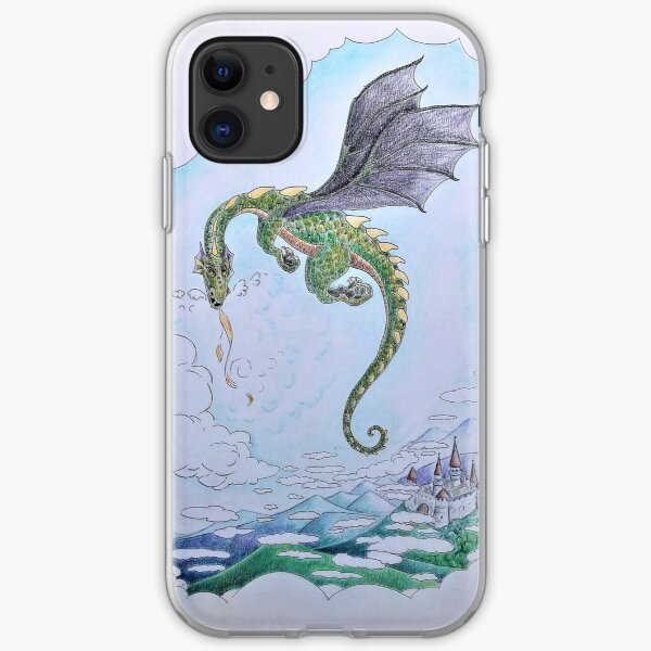Dragon and Castle iPhone Soft Case