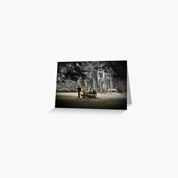 A Day in the Park - Hollybank, Tasmania Greeting Card