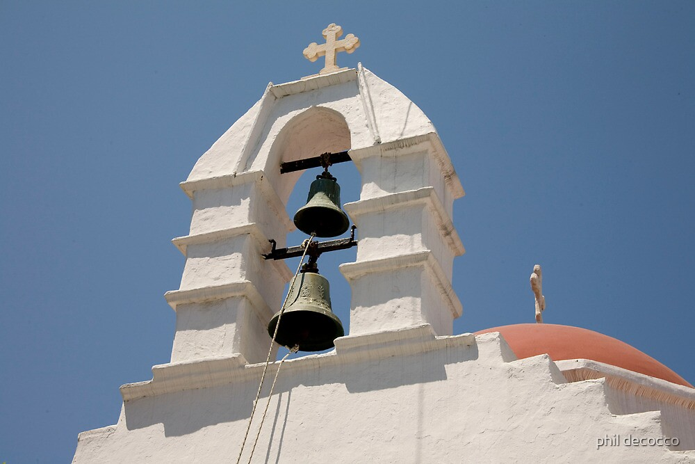 Two Bells, Red Dome by phil decocco