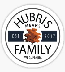 Pegatina Hubris significa familia