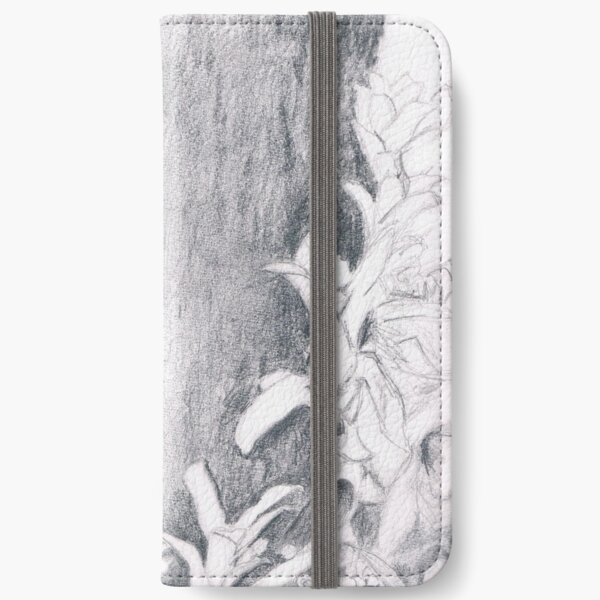 Tree trunk with plants iPhone Wallet