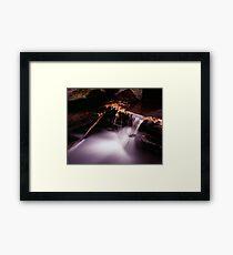 even flow Framed Print